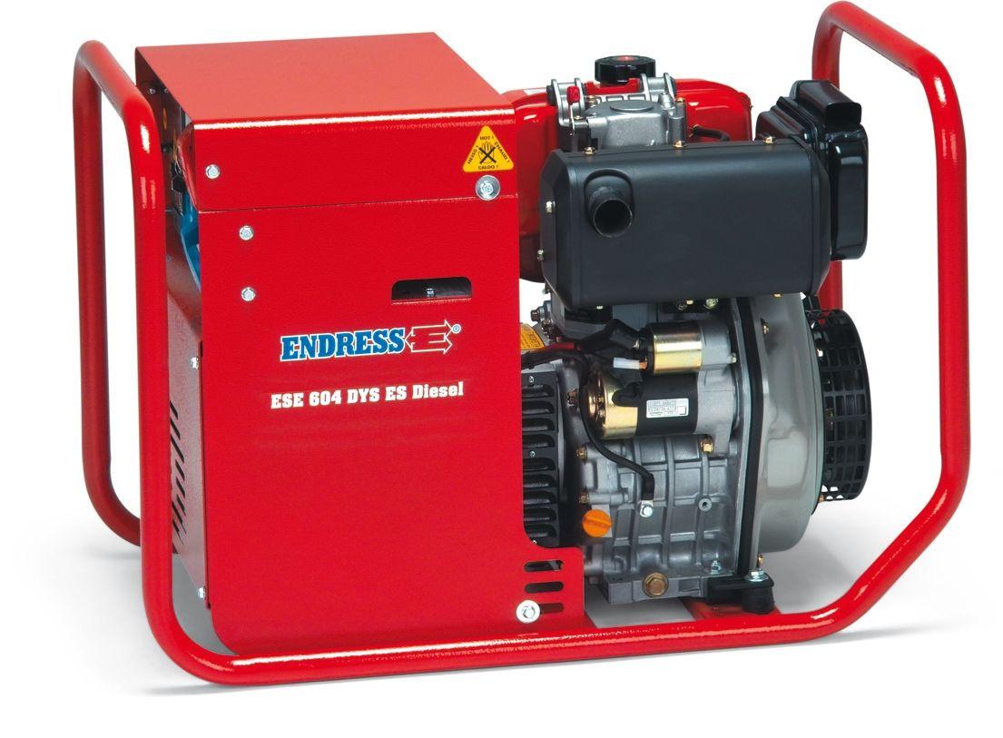 ESE 604 DYS DI + 1. servis v ceně. Elektrocentrála třífázová naftová Endress.