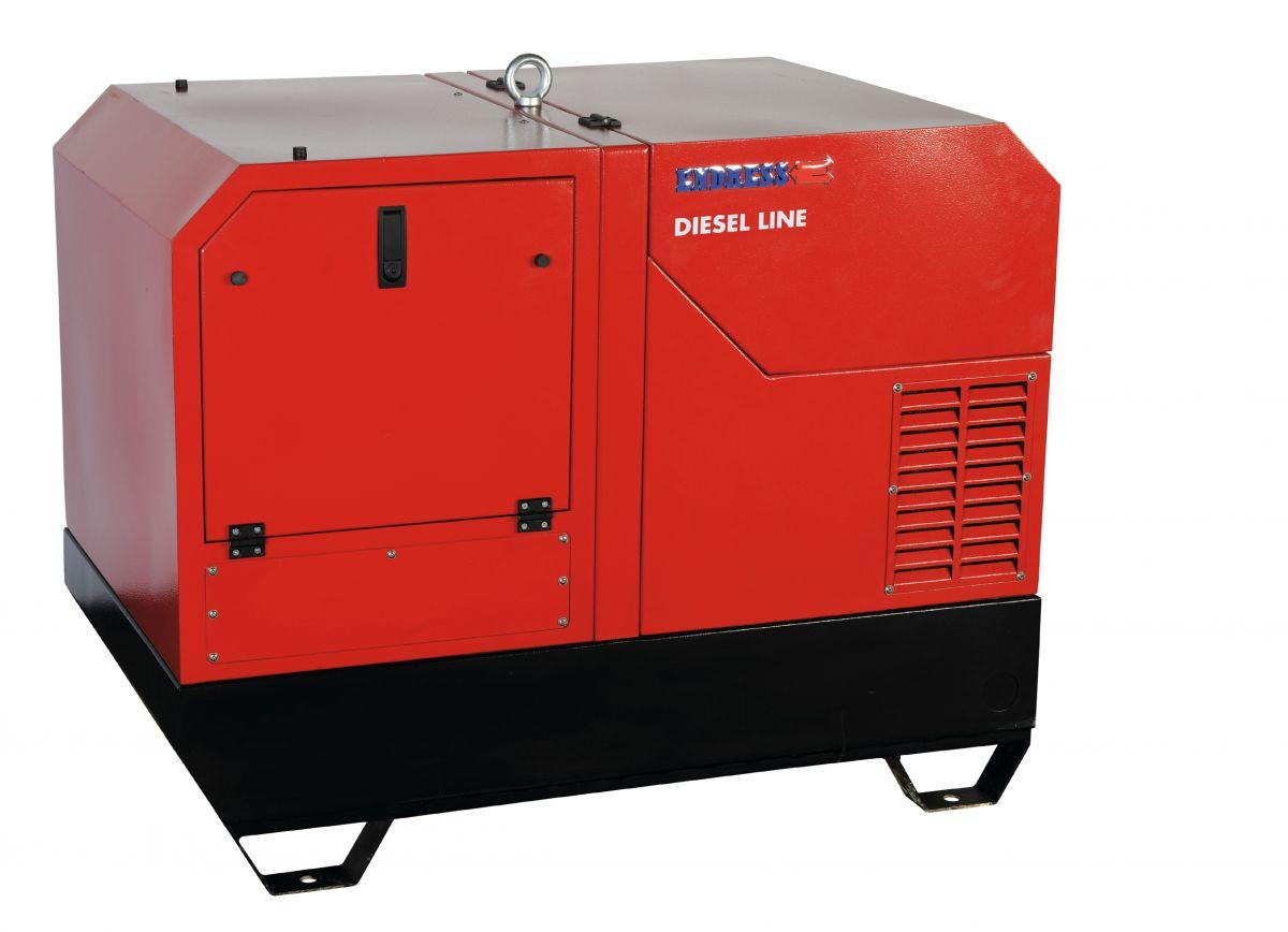 ESE 1208 DHS-GT ES DI + 1. servis v ceně. - Tichá třífázová naftová elektrocentrála Endress.