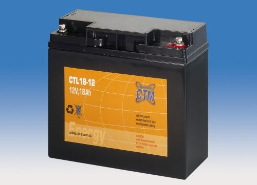 CTL 12V/18 Ah. Baterie SLA, M5. 10 let životnost.