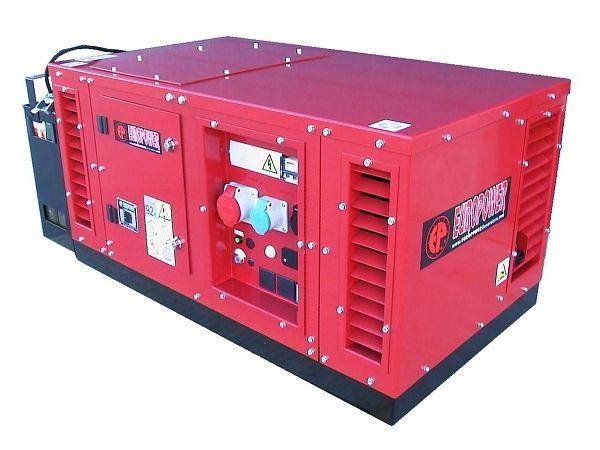 EPS15000TE + 1. servis a doprava v ceně. Tichá třífázová elektrocentrála Europower v kapotáži.