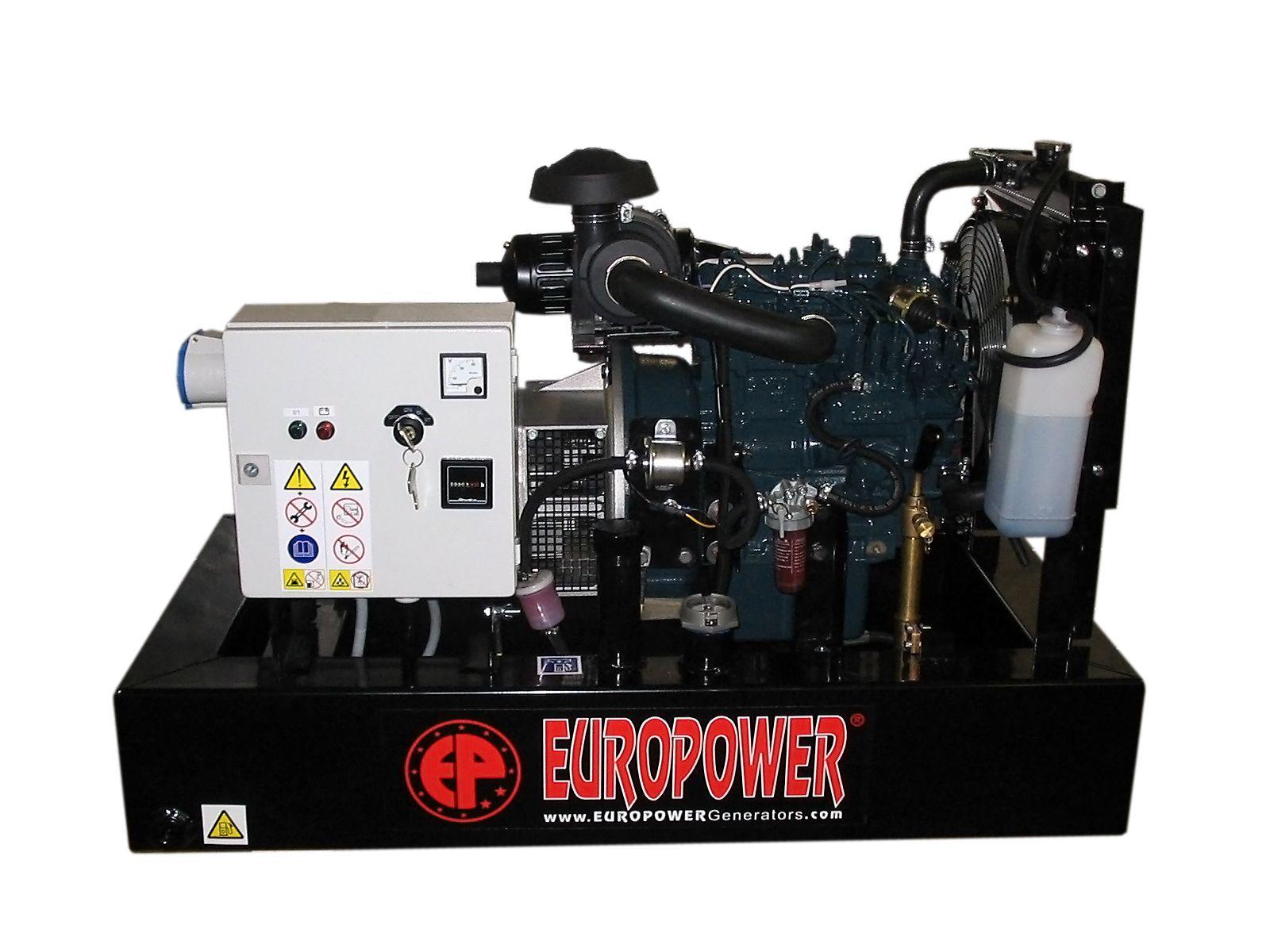 EP103DE - 1. servis a doprava v ceně. Naftová jednofázová elektrocentrála Europower