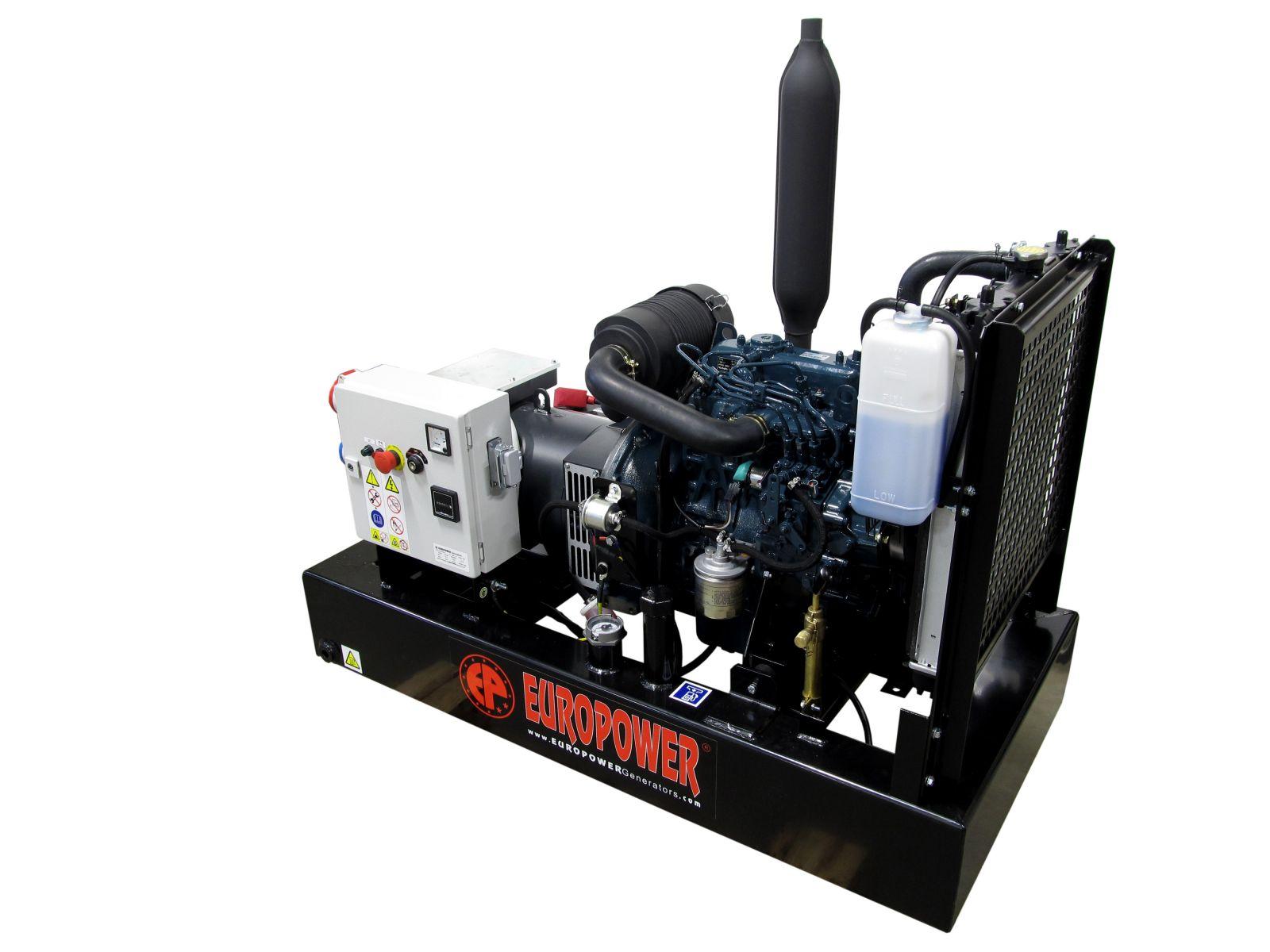 EP83TDE - výkon 8 kVA, 1. servis a doprava v ceně. Naftová třífázová elektrocentrála Europower